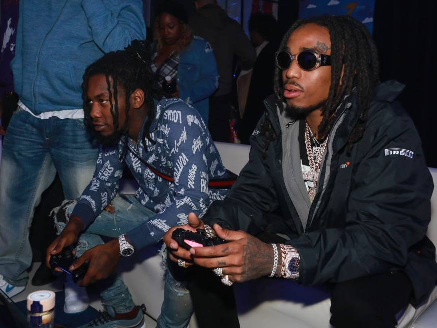 Quavo Plays 'Call Of Duty: Warzone' With Paul George & Devin Booker