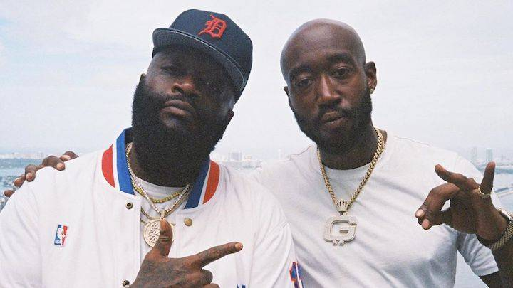 Freddie Gibbs & Rick Ross Tease Motion Picture Style 'Scottie Beam' Video In Miami