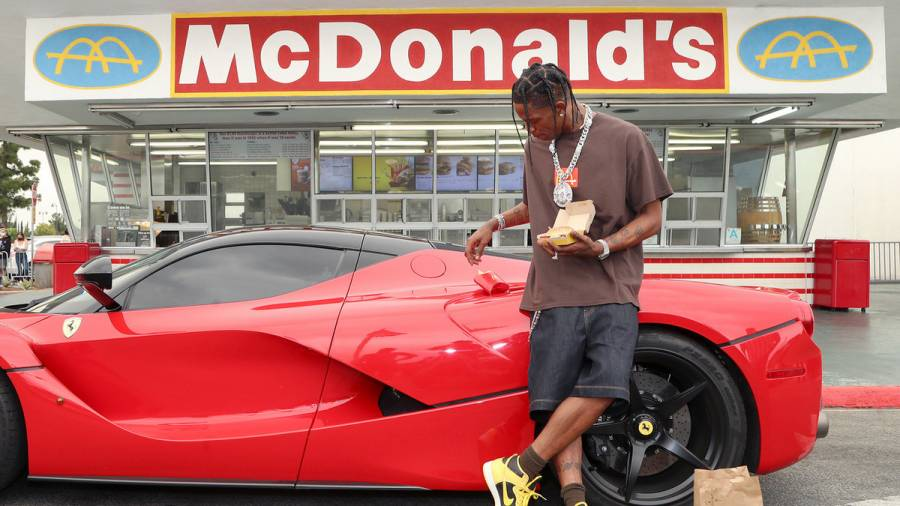 Travis Scott Turns Up With Fans At Oldest McDonald's Restaurant To Celebrate His Meal's Release
