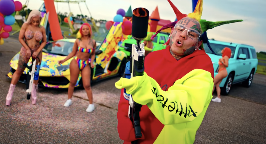6ix9ine Totes A Flamethrower In Colorful 'Tutu' Video