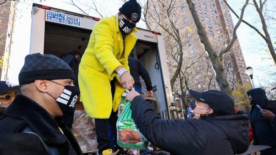 French Montana Posts Up With Jim Jones Following Bronx Hometown Thanksgiving Turkey Drive