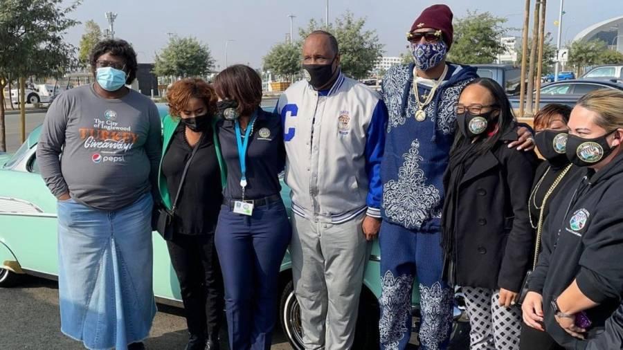Snoop Dogg Hosts Massive Turkey Drive At L.A. Rams' Sofi Stadium