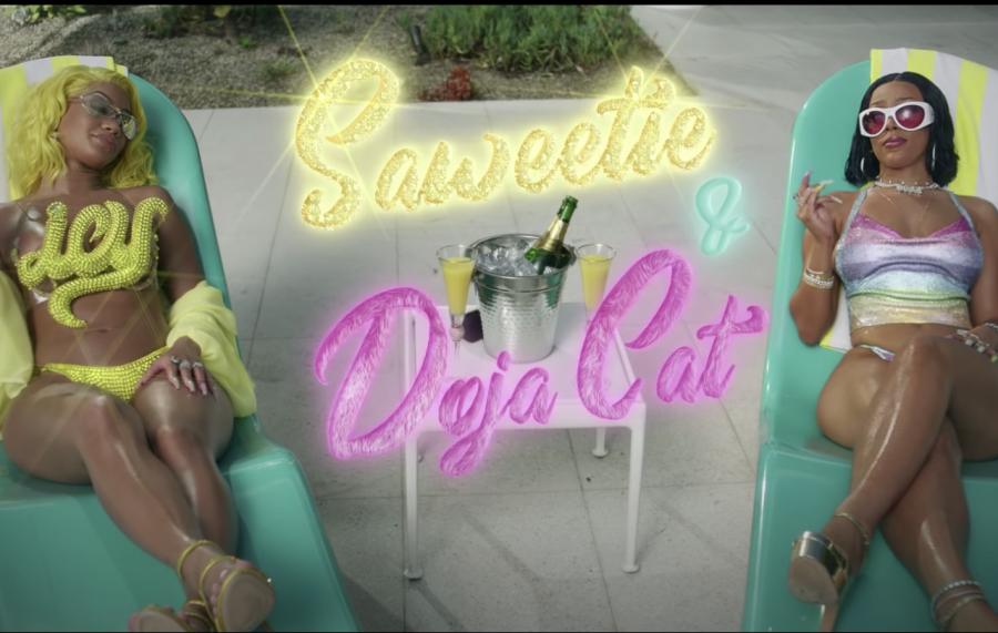Saweetie & Doja Cat Go Naked Cliff Jumping In Bougie 'Best Friend' Video