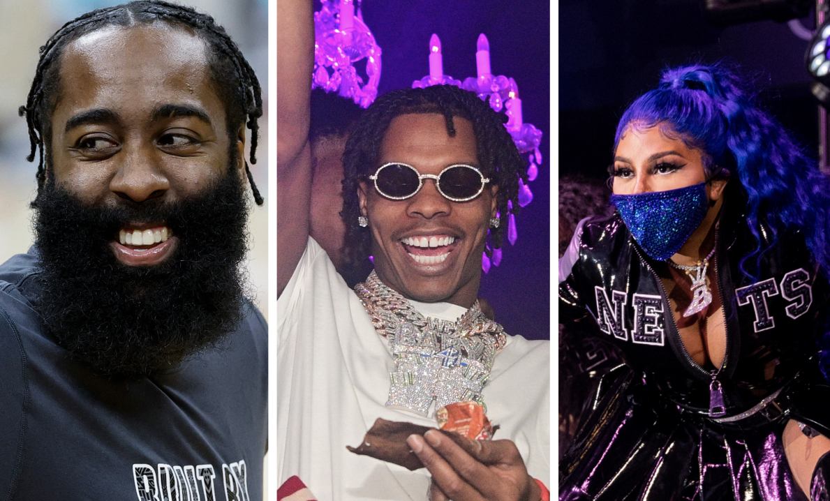 Lil Baby & 42 Dugg Link With James Harden Following Lil Kim's Brooklyn Nets Performance