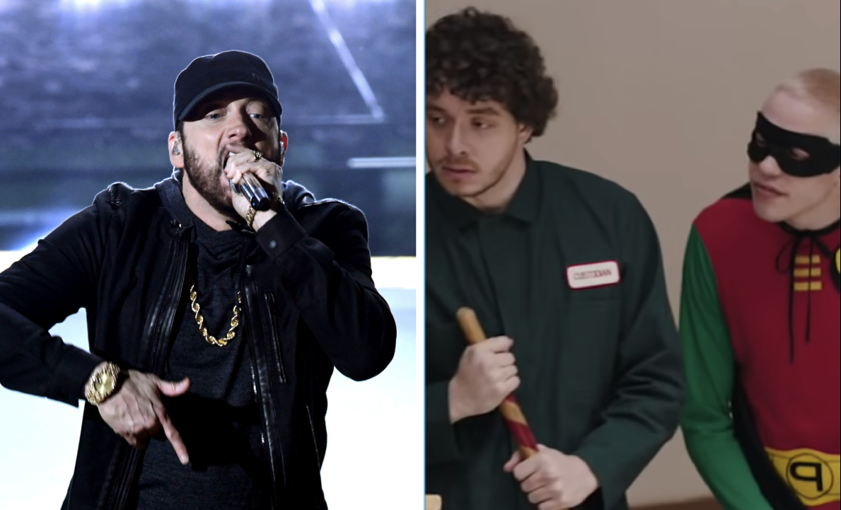 Eminem Responds To Jack Harlow & Pete Davidson's 'SNL' Spoof & Readies 1st NFT Release