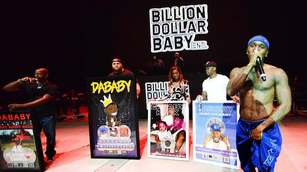 DaBaby Showered With Platinum For 'ROCKSTAR,' 'Suge,' BOP,' 'TOES' + More Hits