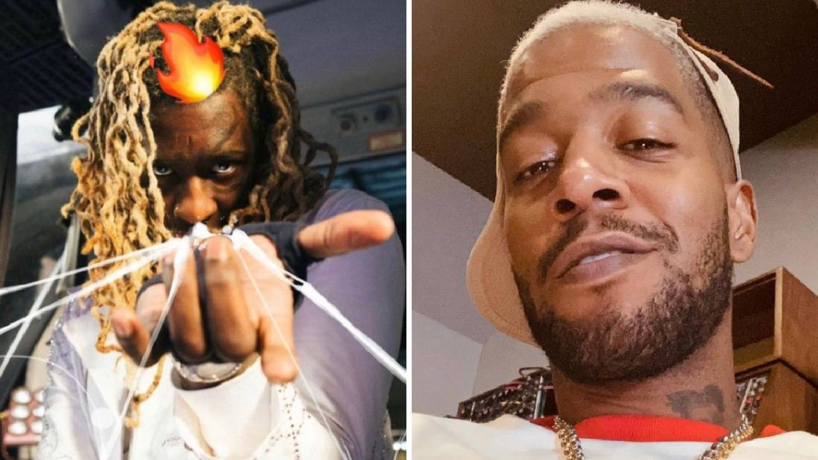 Young Thug Challenges Kid Cudi's Skinny Jeans Godfather Zipper