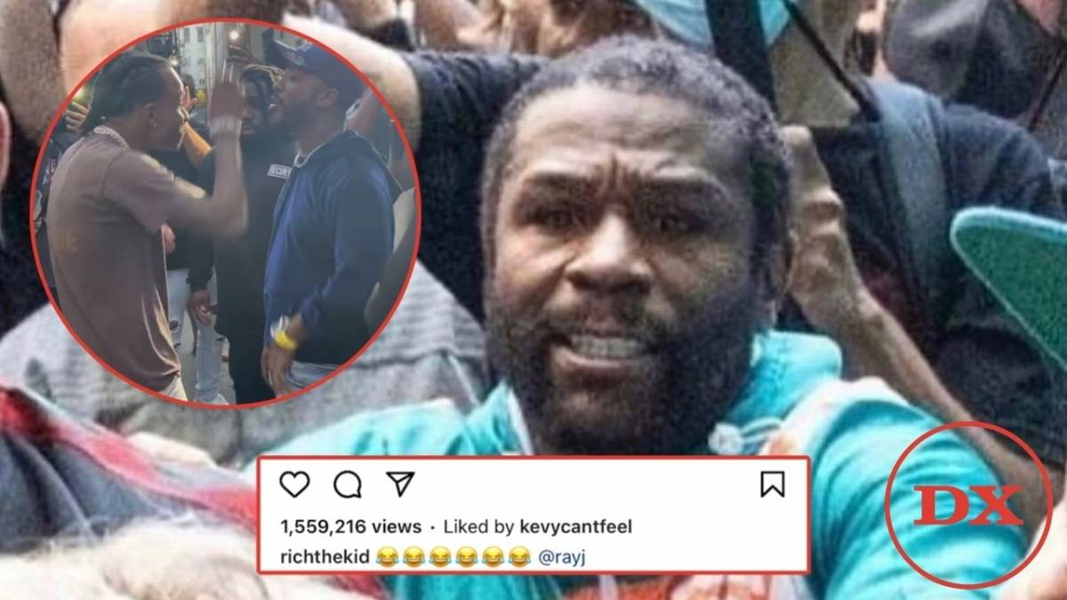Rich The Kid & Ray J Troll Floyd Mayweather's Jake Paul Hat-Snatching Face-Off