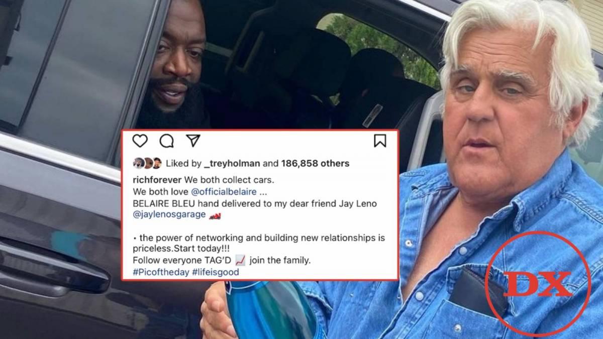 Rick Ross Debuts Belaire 'Bleu' With Jay Leno As Moneybagg Yo Joins Villon Spirits