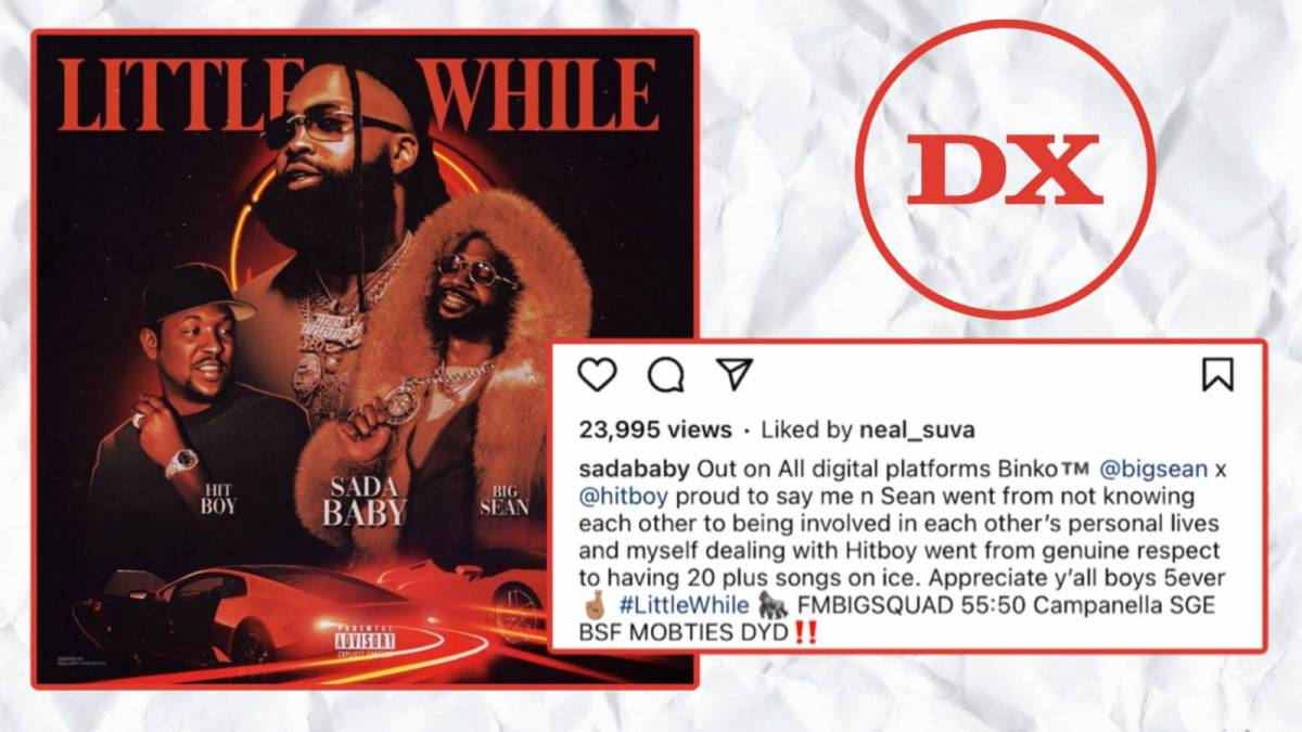 Sada Baby Reflects On Bonds With Big Sean & Hit-Boy Amid 'Little While' Collaboration