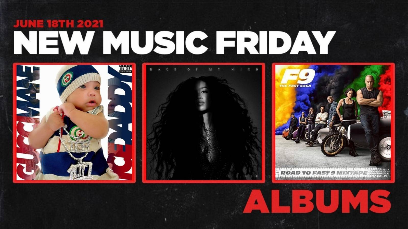 New Music Friday – New Albums From H.E.R., Migos, Gucci Mane, Dro Kenji, Metro Marrs + More