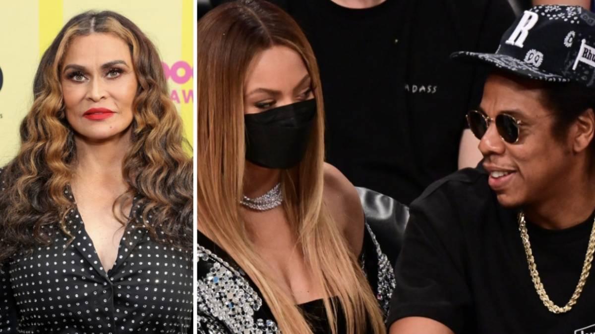 Tina Knowles Explains Why JAY-Z Rubs Beyoncé's Leg In Photos
