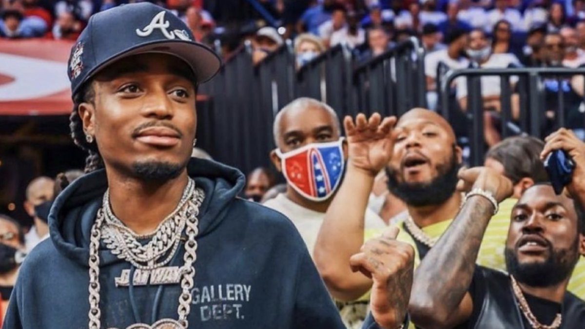 Quavo Celebrates In Atlanta Hawks Locker Room After Game 7 Victory In Philly