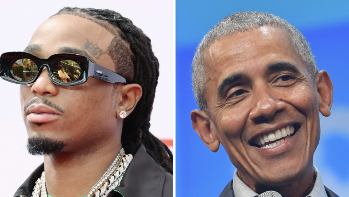 Quavo's 'Song Of The Summer' Claims Validated With Barack Obama Playlist Look