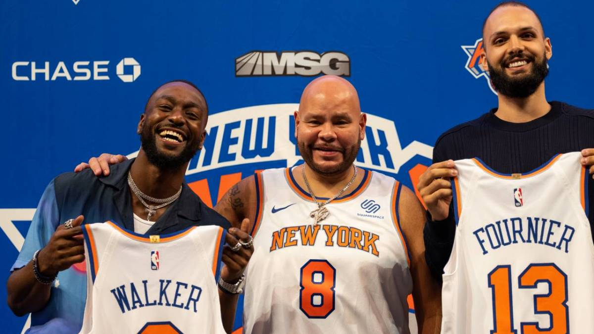 Fat Joe Welcomes New York Knicks Players Kemba Walker & Evan Fournier To MSG
