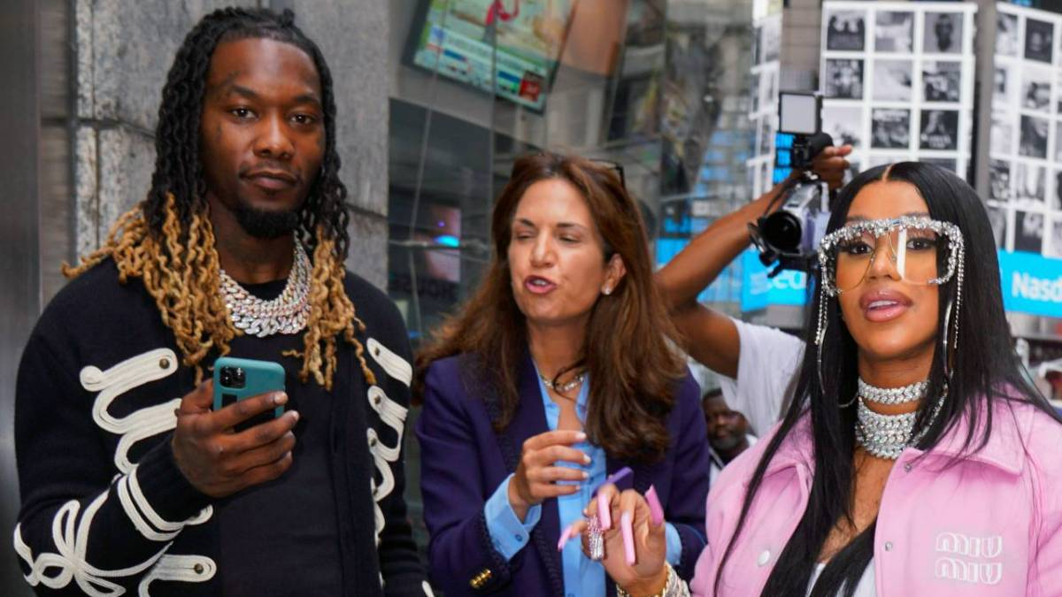 Offset & Cardi B Support NYSE As Migos Catalog Goes Public