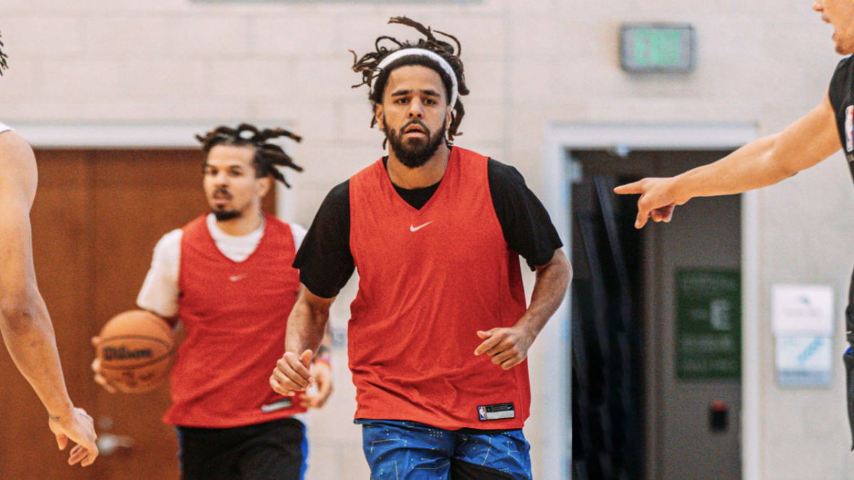 J. Cole Spotted Hooping With NBA's Orlando Magic Following Pro Basketball Skit