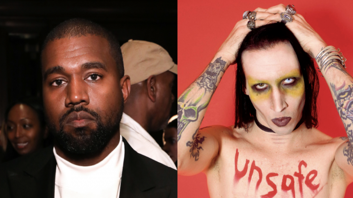 Kanye West Doubles Down On Marilyn Manson Support While Partying With Diddy