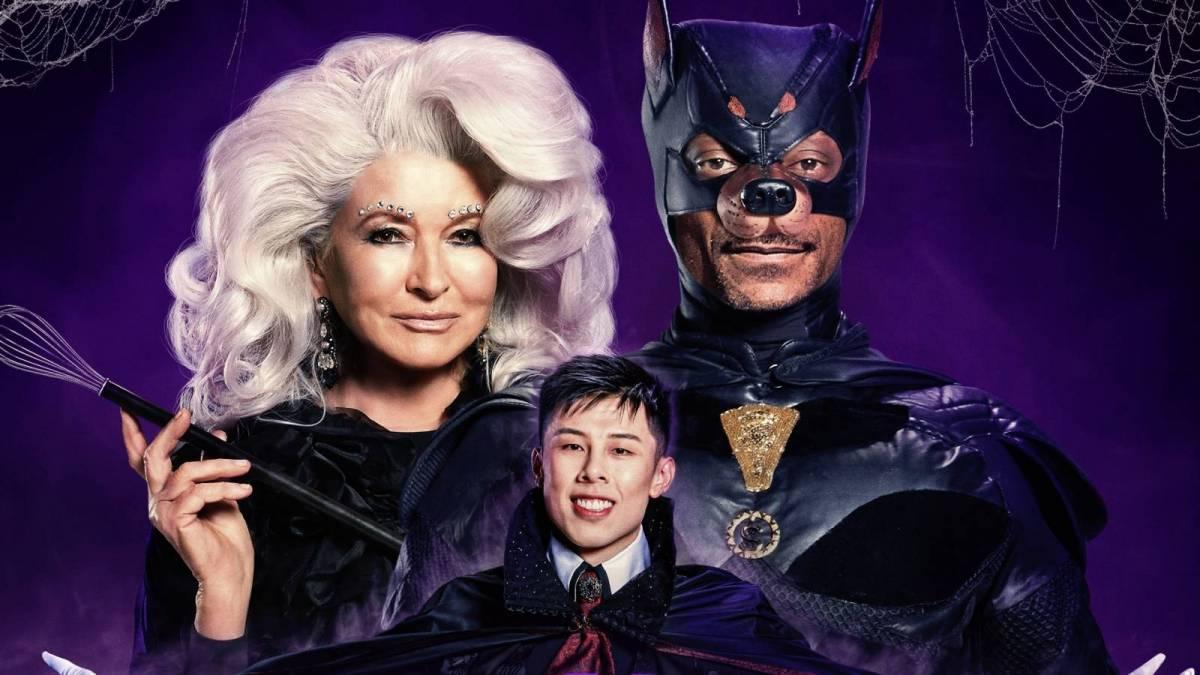 Snoop Dogg Challenges Travis Scott's Batman Halloween Costume In Martha Stewart Special